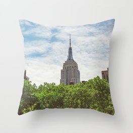Color Empire State Building Throw Pillow