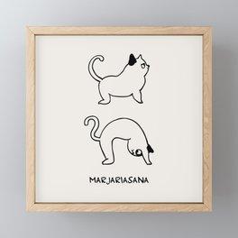 Cat Pose Framed Mini Art Print