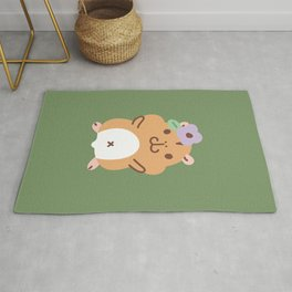 Hamster and Flower Rug