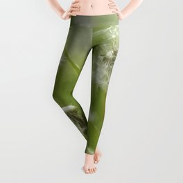 Three-Quarters of a Wish Left painterly Leggings