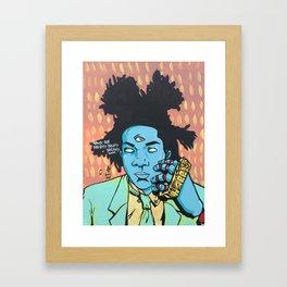 STUCK ON DREAMS (Basquiat) Framed Art Print
