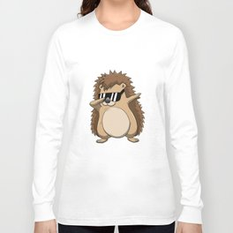 Dabbing Hedgehog T Shirt Funny Dab Dance Long Sleeve T-shirt