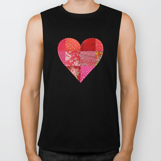 Patched Heart Biker Tank