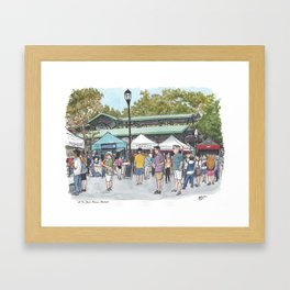 Davis Farmers Market Framed Art Print