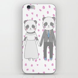 Wedding pandas iPhone Skin