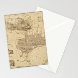 Map of Montreal 1859 Stationery Cards