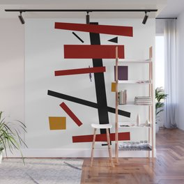Geometric Abstract Malevic #15 Wall Mural
