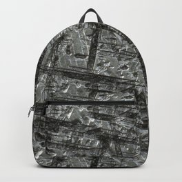 Gouged Stainless Texture Backpack