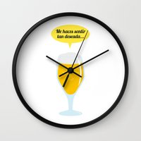 beer Wall Clocks featuring beer by noelia jiménez