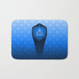 D20 All I Do Is Crit!  Blue Ombre Bath Mat