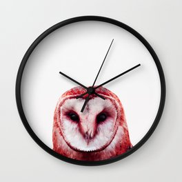Red owl Wall Clock