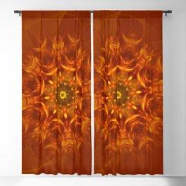 Mandala Sunlight Orange Pattern Blackout Curtain
