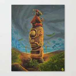 Koshi Greets The Storm Canvas Print
