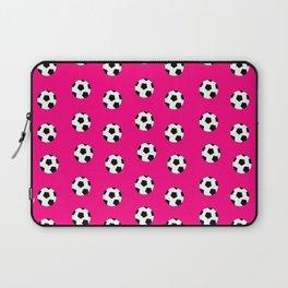 Neck Gaiter Soccer Balls Pink Soccer Team Neck Gator Laptop Sleeve