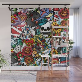 Tattoo Collage Wall Mural