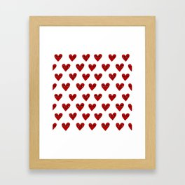 Heart love valentines day gifts hearts with faces cute valentine Framed Art Print