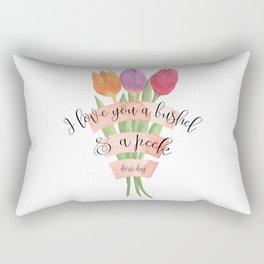 I Love You a Bushel and a Peck Rectangular Pillow