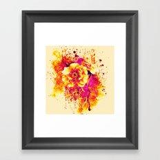 splash flowers Framed Art Print