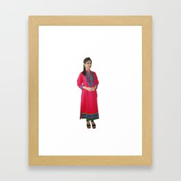 Beautiful Pure cotton Kurtis Framed Art Print