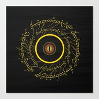 lord of the ring Canvas Prints featuring Lord Of The Ring - Sauron Eye by Raisya