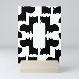 Scottie Dog Hex Pattern Mini Art Print
