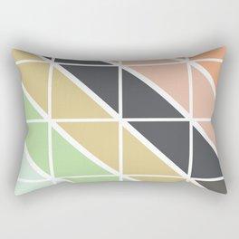 Retro Geometric Triangle Pattern Rectangular Pillow