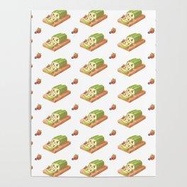 Matcha Cake Roll Poster