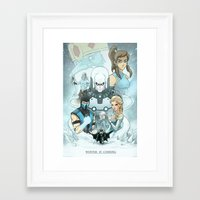 warcraft Framed Art Prints featuring Winter Is Coming by Andrew Sebastian Kwan