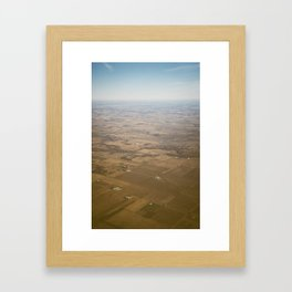 open fields Framed Art Print