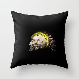 Cyber Punk Chief Throw Pillow