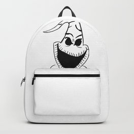 black and white oogie boogie Backpack
