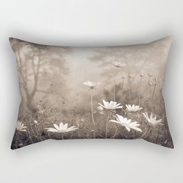 Daisies in the Fog, Guy Fleming Trail, Torrey Pines Rectangular Pillow