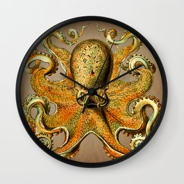 Vintage Golden Octopus Wall Clock