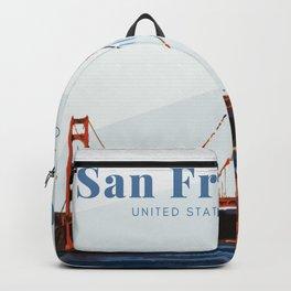San Francisco Golden Gate Bridge Backpack