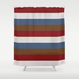 Bold Neutral Stripes Shower Curtain