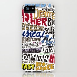 Movies Genres COLOR iPhone Case