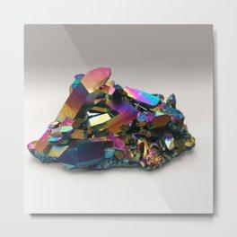 Titanium Rainbow Aura Quartz 1 Metal Print