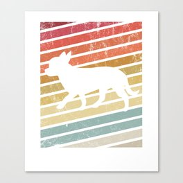 Chihuahua Dog Retro 70s Silhouette Breed Gift print Canvas Print