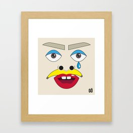 MIRRÖR - Selfportrait Framed Art Print