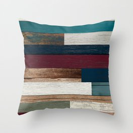 All of the Wood Planks Throw Pillow