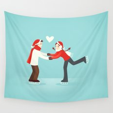 Skaters in Love Wall Tapestry