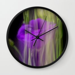 Fleur Blur-Abstract Purple Flower Photo Wall Clock