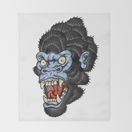 Gorilla Throw Blanket