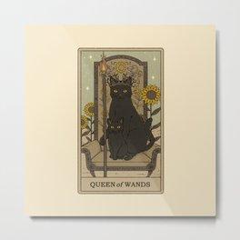 Queen of Wands Metal Print