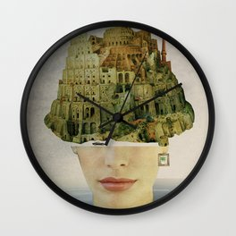 Miss Babel Wall Clock