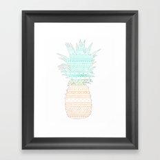 Tribal Pineapple  Framed Art Print