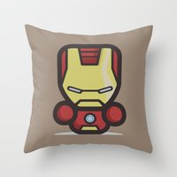 ironman Throw Pillows featuring Ironman by MaNia Creations