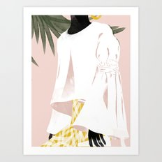 Pink Uma Art Print