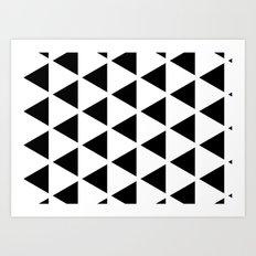 Sleyer Black on White Pattern Art Print