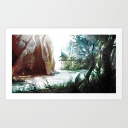 House in the wild Art Print